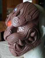 Lion of the Wind mask in progress... by mostlymade