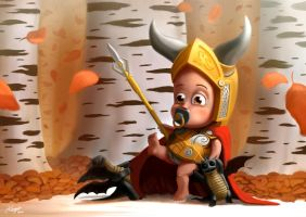 Baby Odin by klungart