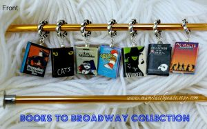 From BOOKS to BROADWAY Stitch Markers by maryfaithpeace