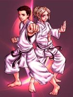 Martial Arts Siblings by DanieruLumiere
