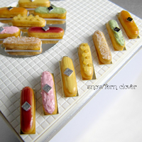 1:12 scale miniature eclairs by Snowfern