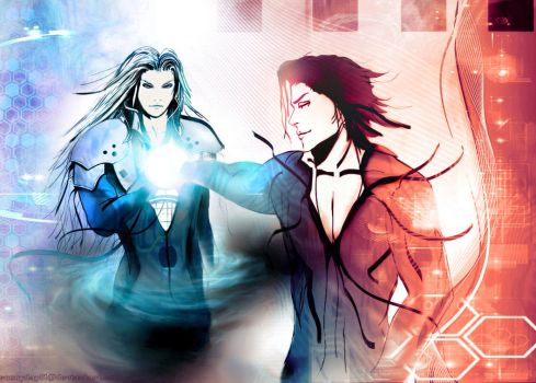 Aizen and Sephiroth by sunnyday81