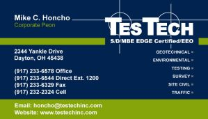 TesTech Business Card FRONT by JustinRampage