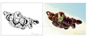 Iron Man 2010 Ink and Colors by ncajayon
