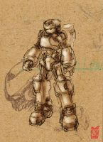 Sketch- Megaman Hardsuit by Rawbot