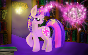 Once in a forgotten library... ((AT)) by FlashbackingArtist00