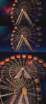 Ferris in the night Wallpaper by abdelrahman