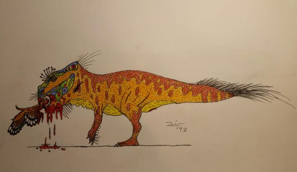 Leptoceratops gracilis doesn't like vegetables  by TheDubstepAddict