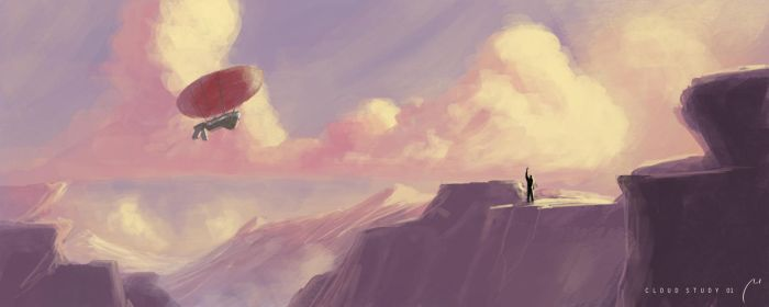 Clouds Study 01 (Quickpaint ~30min) by xistenceimaginations