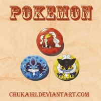 Pokemon Legendary Cats Set by Chukairi