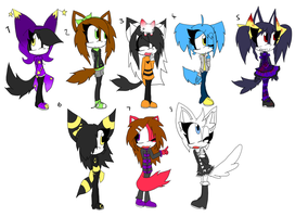 8 Sonic Adoptables +CLOSED+ by Sky-Yoshi
