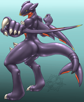 Garchomp should have hands... by Mykiio