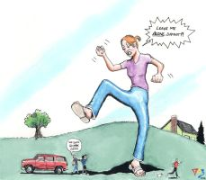 Giantess Chasing by Gulliver63