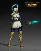 Angelic Enforcer Awilix - Smite Skin Concept by EthanMck