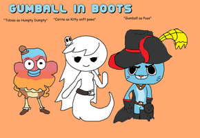 Gumball in boots by Cartoonfangirl4