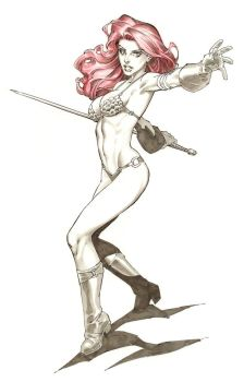 Red Sonja marker - Comicon by RandyGreen