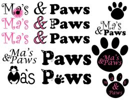 Mas and Paws logo ideas by KCCreations