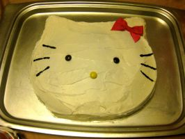 Hello Kitty Cake by CatsCakes