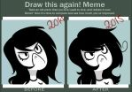 Draw this again meme! Simple as a line! by hiperloid