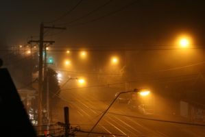 foggy night by thegeforce
