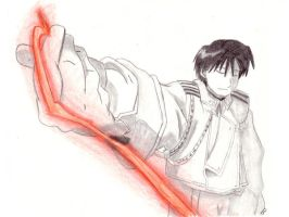 Roy Mustang with Lightening by JediSeeker1