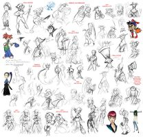 doodles and sketches by thweatted