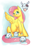 Fluttershy and Poros! by reaperfox