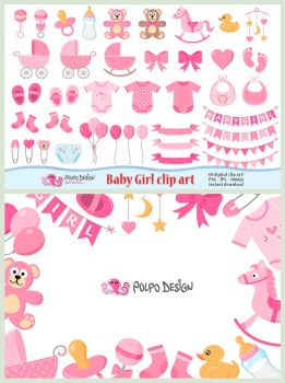 Baby Girl clipart by PolpoDesign