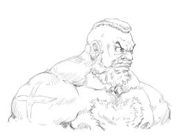 Zangief - Street Fighter Sketch by Mick-cortes