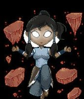 Pixelicious~Korra Avatar State Earth by LittleMissSquiggles