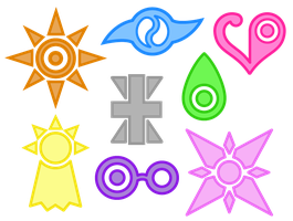 The Eight DigiDestined Crests by MedaX6