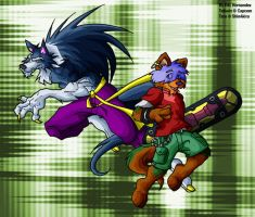 Talbain and Taru by ElectricDawgy