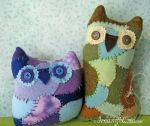 Scrappy Owls by merwing
