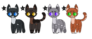 Cat Adoptables OPEN by Uran-Adoptz