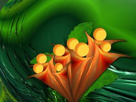 abstract flower-wallpaper by sonafoitova