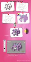 Color phases of my works. by Sihuk