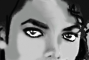 Michael's Jackson's eyes painting by TheRealSexyKate