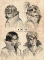 Akatsuki Sketches by Keyade