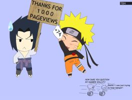 Thanks for 1000 pageviews by PRoachHeart-Sasuke