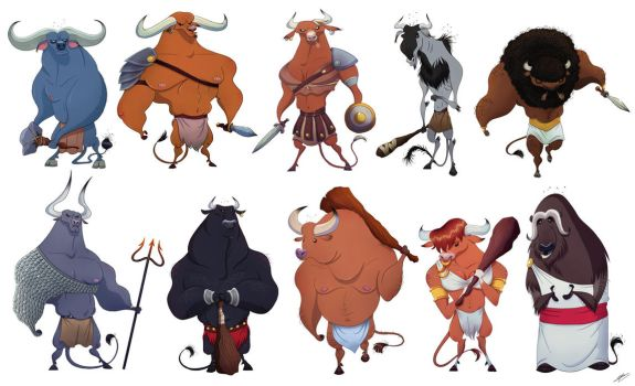 MINOTAURS SKETCHES by GrievousGeneral