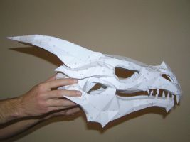 PEPAKURA - Skyrim dragon skull 1 by distressfasirt