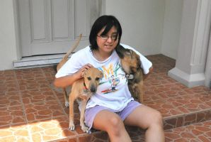 Me and my puppies 2 by lady-storykeeper