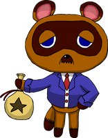 Tom Nook by Hanae-Narahashi