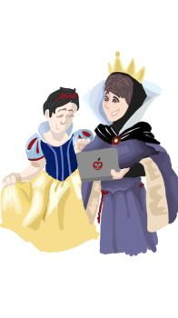 Dan and Phil as snow whiter and the evil queen by WhiteWinery