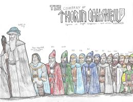 The Hobbit: The Company of Thorin Oakenshield by DWestmoore
