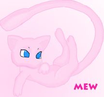 Mew Floating by Vgkitties