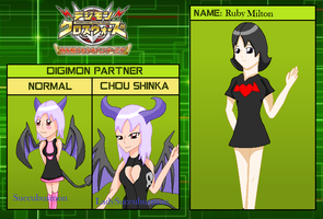 Digimon xros wars Hunters: Ruby Milton by HeroHeart001