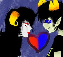 Aradia and Sollux by ChiiM0M0