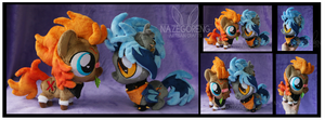 Chibi Eira and Bounty Custom Plushes by Nazegoreng