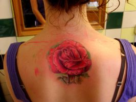 realistic rose by tattooneos